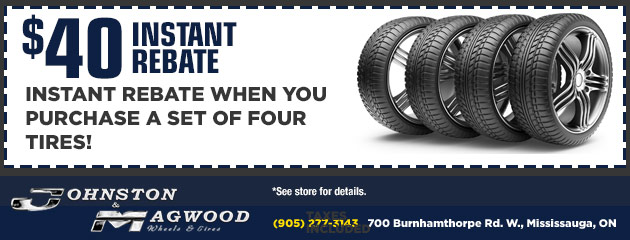 $40 Instant Rebate When You Buy a Set of Four Tires