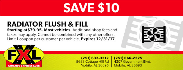 Save $10 on a Radiator Flush & Fill Service