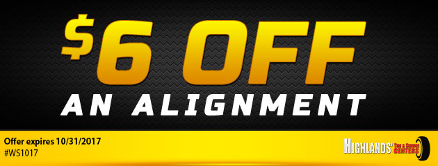 $6.00 Off an Alignment