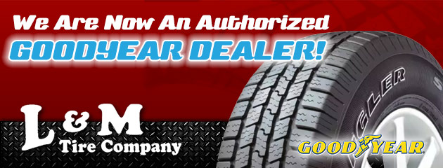 We Are Now An Authorized Goodyear dealer!