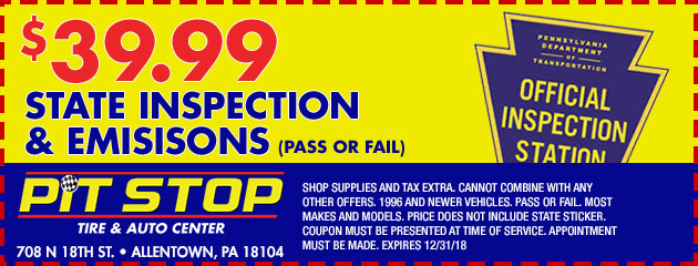 $39.99 State Inspection & Emissions Special