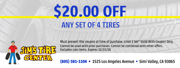 $20 Off Any Set Of 4 Tires