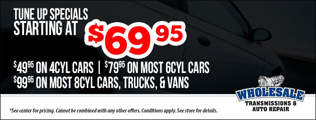 Tune Ups Starting at $69.95