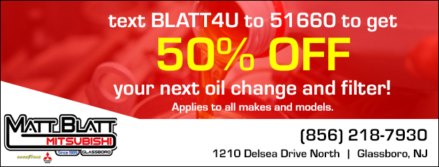 50% Off Your Next Oil Change & Filter