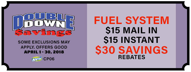 Double Down - $30 Fuel System Savings