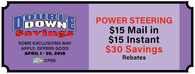 Double Down - $30 Power Steering Special