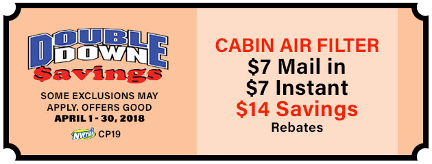 Double Down - $14 Cabin Air Filter Savings