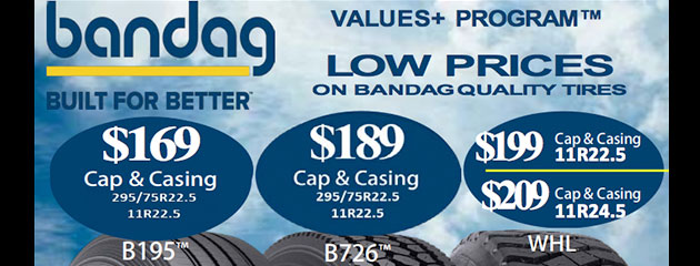 Low Prices on Bandag Quality Tires