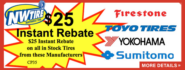 $25 Instant Rebate on Select Tires