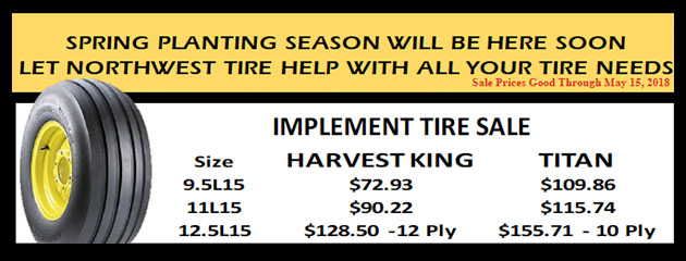Implement Tire Sale
