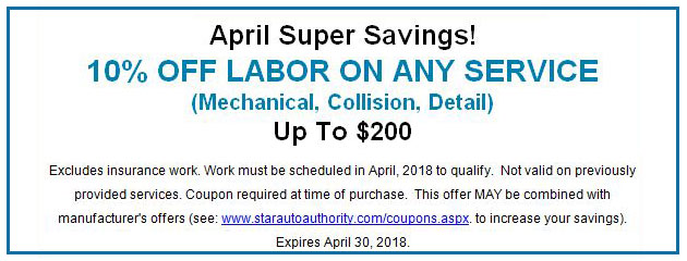 April Super Savings!