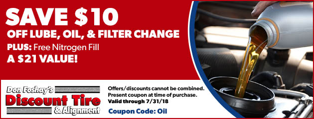 Save $10 Off Lube, Oil, & Filter Change