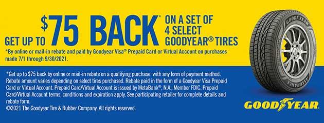 Goodyear - NPP3 - $75 Rebate