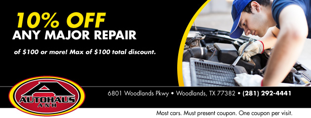10% OFF  Any major repair of $100 or more!