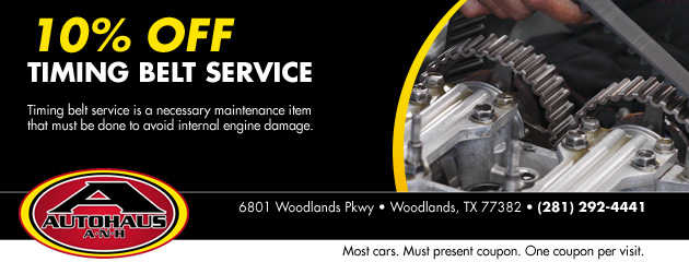 10% Off Timing Belt Service