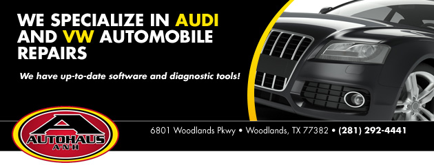 We Specialize in Audi and VW Automobile Repairs