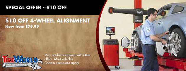 $10 OFF 4-Wheel Alignment