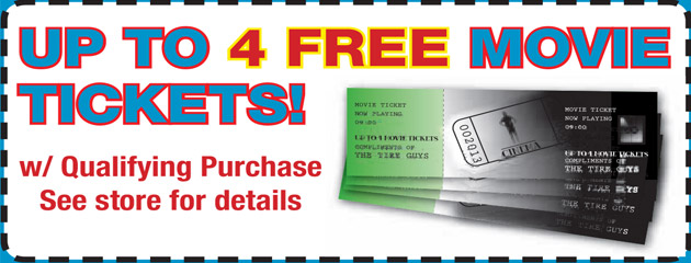 Up to 4 Free Movie Tickets