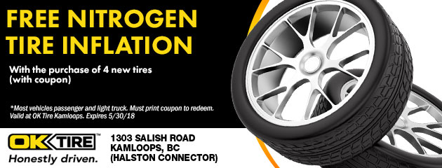 Free Nitrogen Tire Inflation with the purchase of 4 new tires
