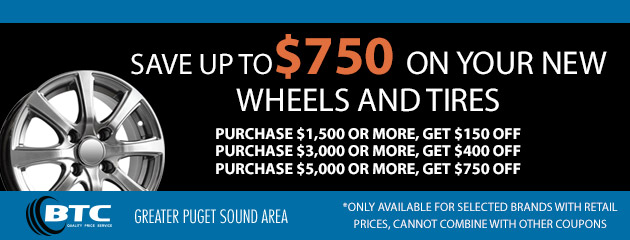 Save up to $750 on your new wheels and tires