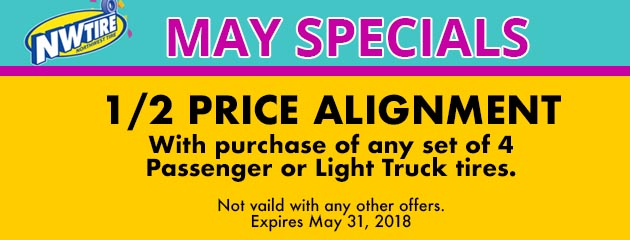 May Special 1/2 Price Alignment