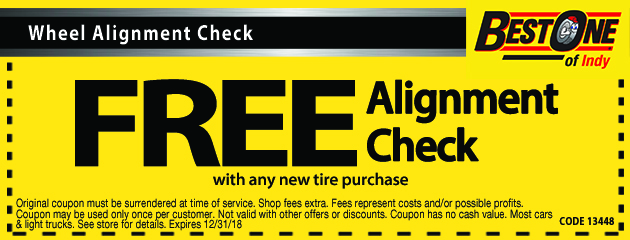 Free Alignment Check with any Tire Purchase