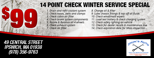 14 Point Check Winter Service