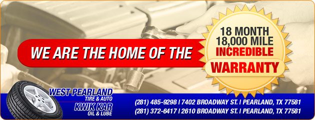 West Pearland Tire & Auto Warranty