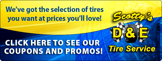 Scottys D&E Tire Service Savings