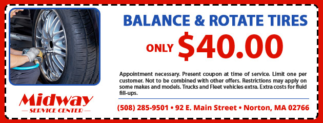 $40.00 for Balance and Tire Rotation