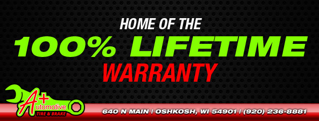 A+ Automotive Tire & Brake Warranty
