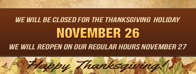 Happy Thanksgiving Closed Thursday Open Friday