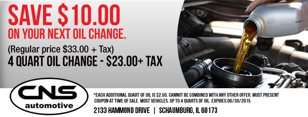 $10 Off Oil Change Coupon