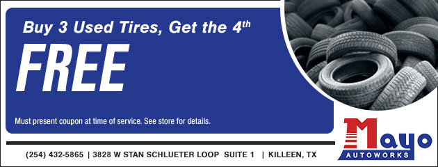Buy 3 used tires get 4th free