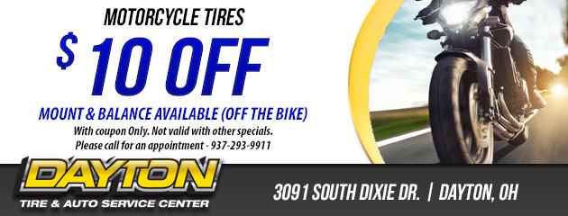 $10 OFF MOTORCYCLE TIRES