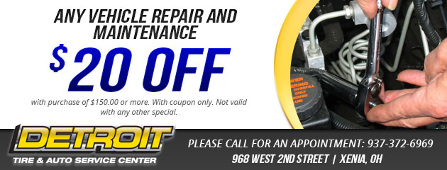 $20 Off any vehicle repair or maintenance