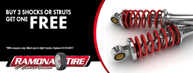 Buy 3 shocks or struts, get one free coupon