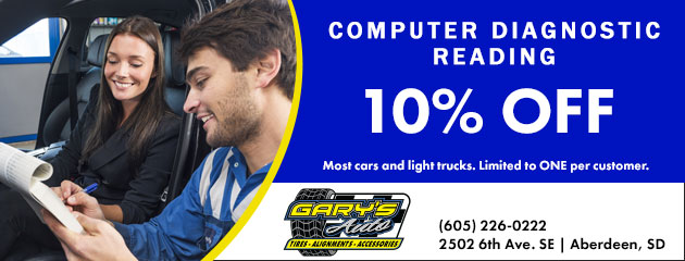 10% off Computer Diagnostic Reading