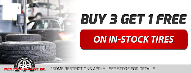 Buy 3 Get 1 Free On In-Stock Tires