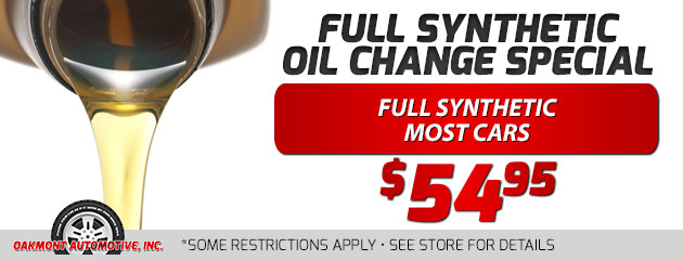 $54 Full Synthetic Oil Change