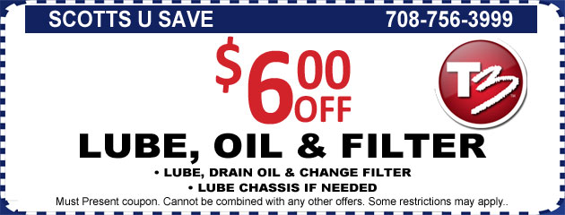 $6 OFF Lube Oil and Filter