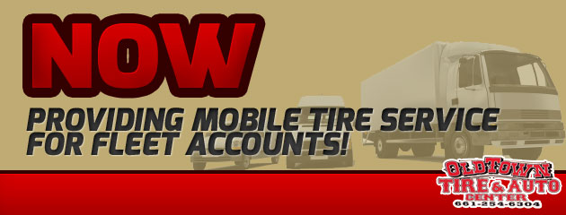 Now Providing Mobile Tire Service to Fleet Accounts