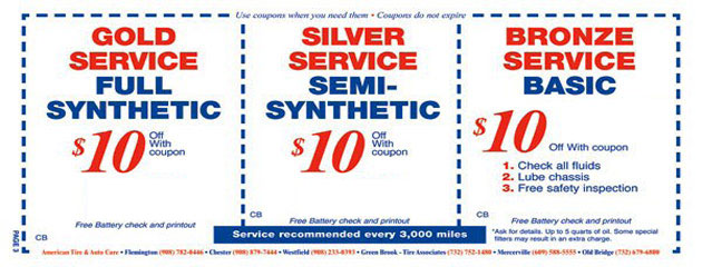 Service Level - Oil Change Special