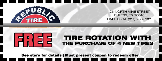 Free Tire Rotation with 4 New Tires