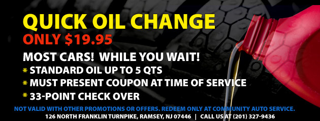 $19.95 Quick Oil Change