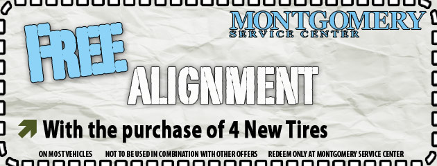 Free Alignment with 4 New Tires