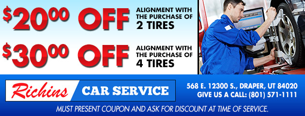 $20 Off Alignment with 2 Tires, $30 Off with 4 Tires