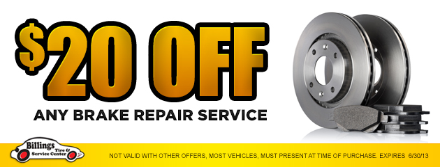 $20 Off any brake repair service