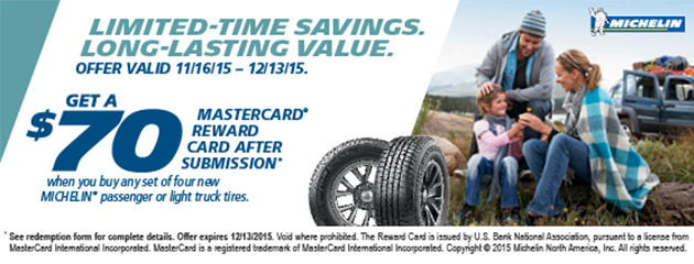 Michelin Winter $70 Rebate