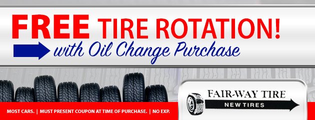 Free Tire Rotation with Oil Change Purchase